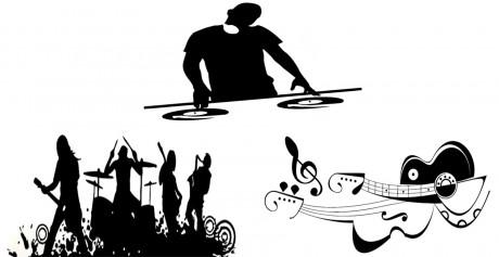 מדבקות דוגמת מוזיקה