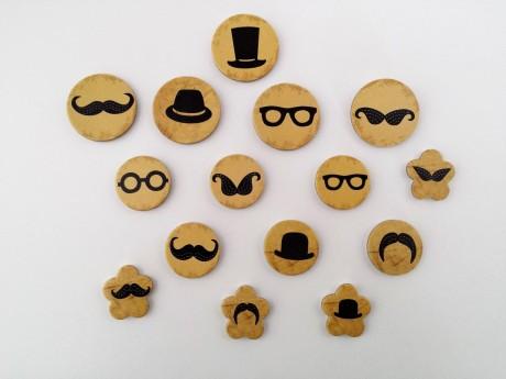 15 מגנטים למקרר דגם שפם - mustache