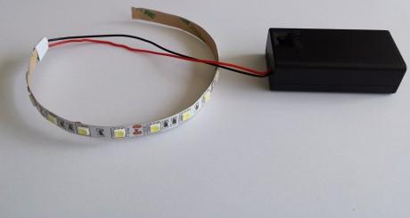 פסי לד הפעלה סוללה 9V - במבחר מידות וצבעים