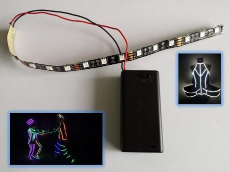 לד לתחפושות פורים תאורת לד סוללות לתחפושות