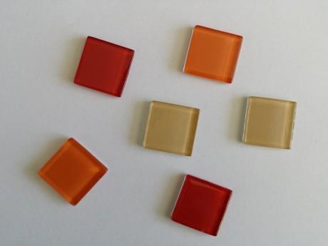 6 מגנטים זכוכית צבעונים למקרר וללוח מתכת