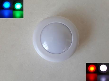 מנורת לד לחיצה איכותית כוללת 4 צבעי אור שונים הפעלה סוללות