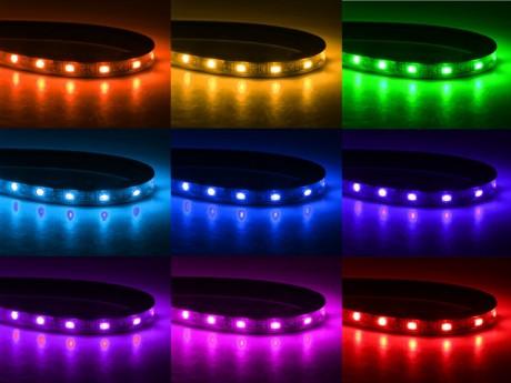 פסי לד RGB לפי מידה כולל בקר שלט ושנאי