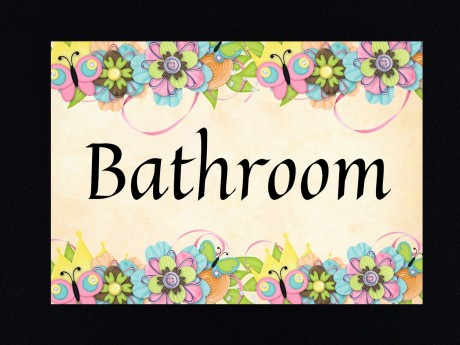 שלט לדלת אמבטיה Bathroom