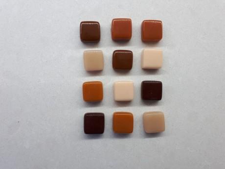 12 מגנטים עיצוב אלגנטי מאבן זכוכית גוונים חומים למקרר וללוח מתכת