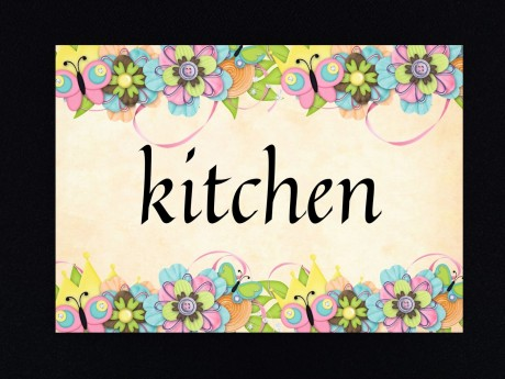 שלט לדלת מטבח kitchen