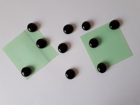 10 מגנטים זכוכית צבע שחור מבריק למקרר וללוח מתכת