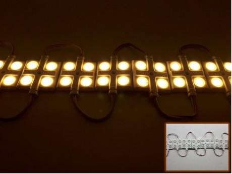 מודול לד 4 לדים Samsung אור לבן חם עוצמה חזקה עם עדשות