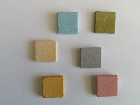 6 מגנטים אבנים צבעונים למקרר וללוח מתכת