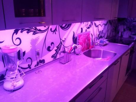 תאורת לד למטבח אור לד RGB רב צבעים