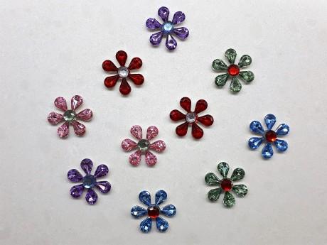 10 מגנטים פרחים צבעונים למקרר וללוח מתכת