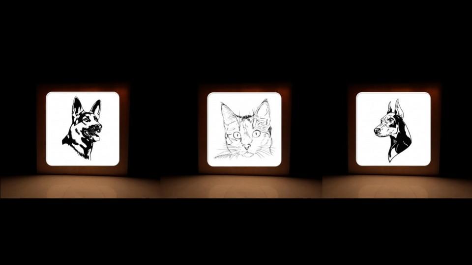 מנורות לד דגם חיות עבודת יד