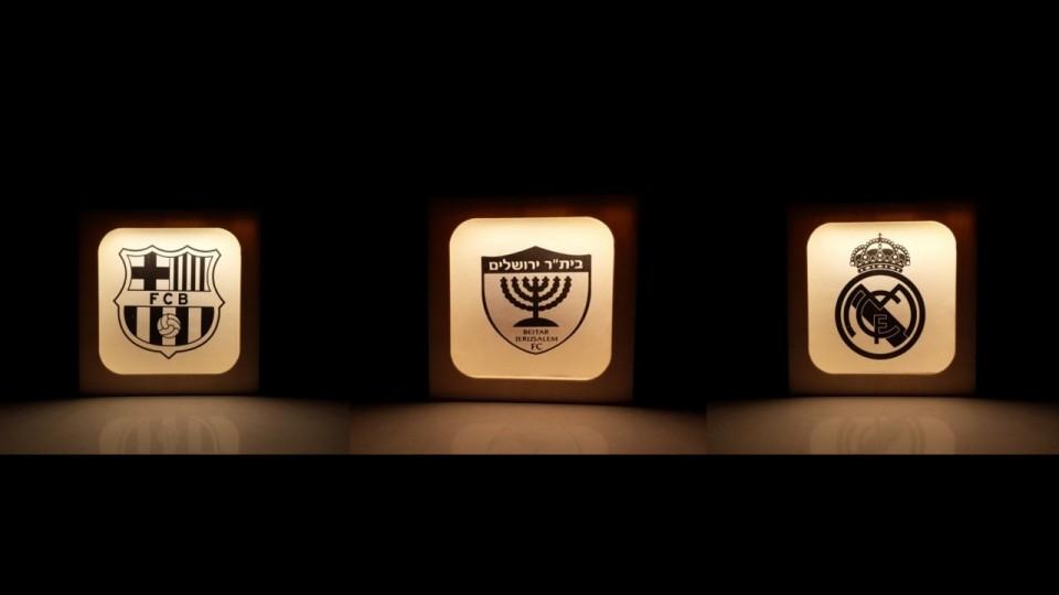 מנורות לד דגם ספורט עבודת יד