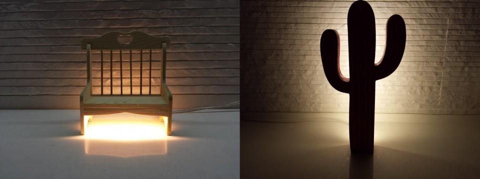 מנורות שולחן לד מעוצבות בעבודת יד